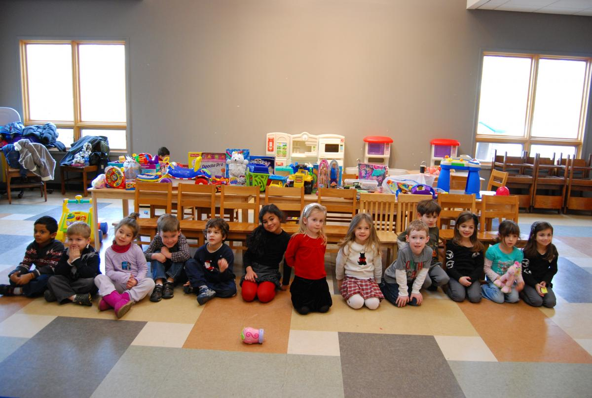 Children at School with Toys donated by Second Chance Toys