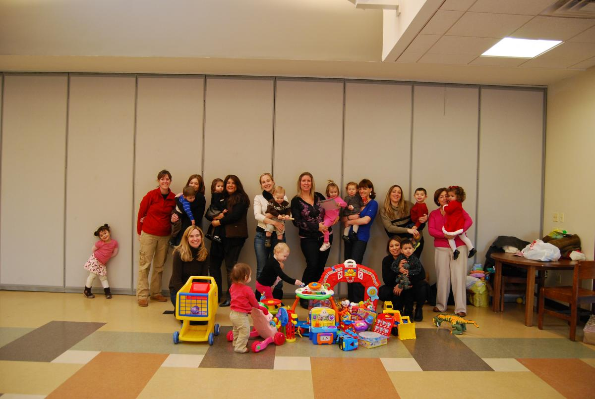 Family and Friends Receiving Toys